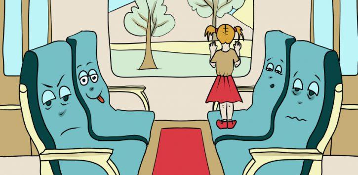 Siedzenia w pociągu